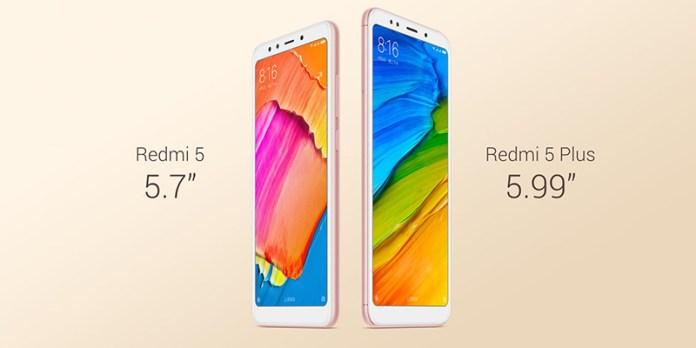 Europa Android Xiaomi Redmi 5 Xiaomi Redmi 5 Plus