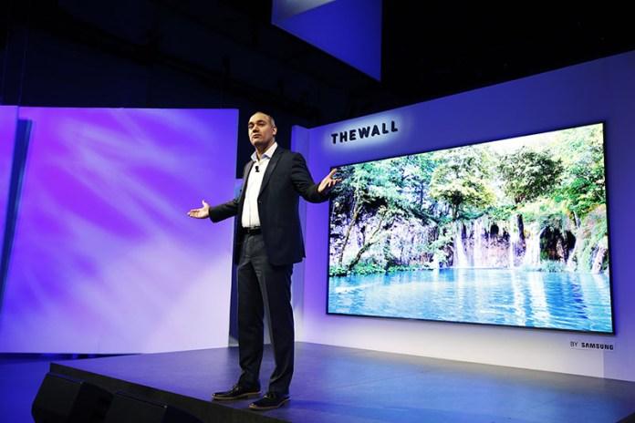 OLED Samsung CES 2018 Samsung The Wall TV Micro LED 146 polegadas 2 QLED