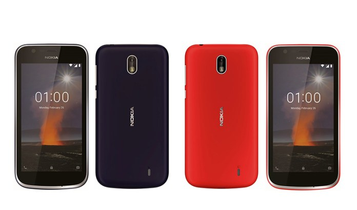 Android Go Google Nokia 1 MWC FCC TA-1071