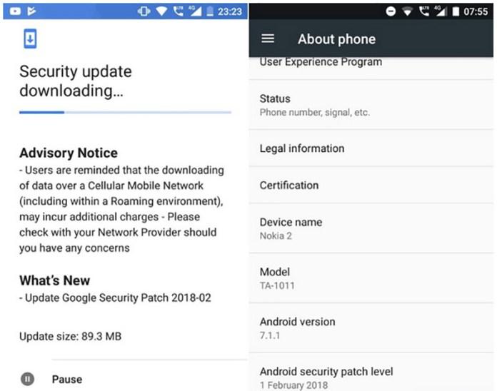 Nokia 2 Android Oreo 8.0