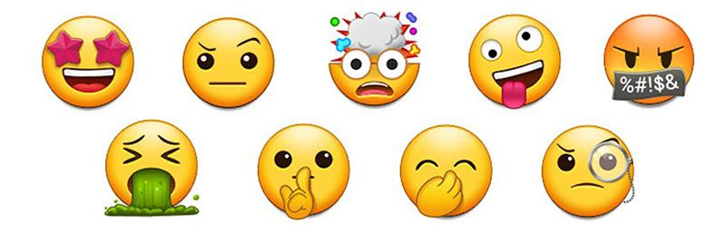Samsung Galaxy S9 Apple iPhone X emojis 1