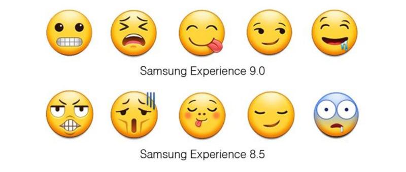 Samsung Galaxy S9 Apple iPhone X emojis