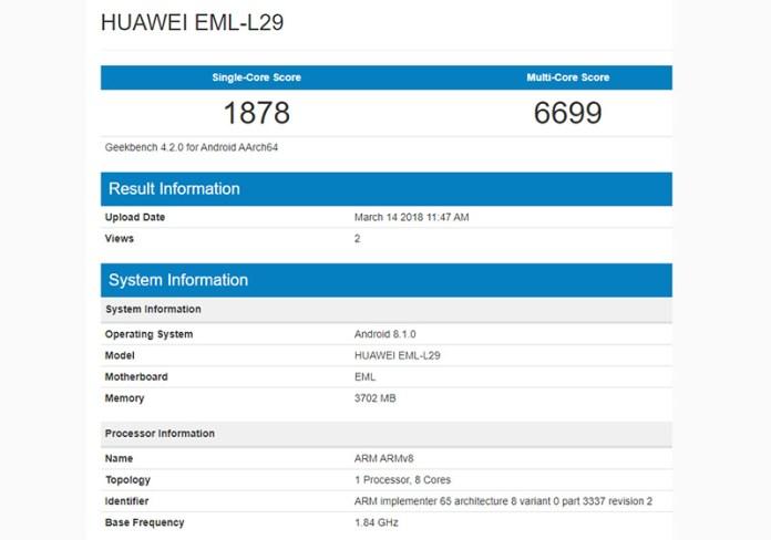 Huawei P20 Samsung Galaxy S8
