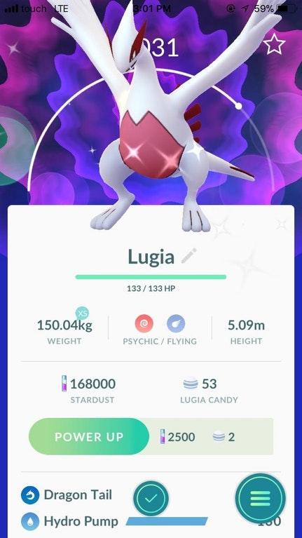 Pokémon GO Shiny Lugia Community Day Bulbasaur
