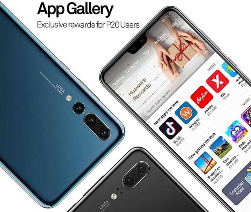 Huawei coloca a AppGallery disponível para todos os seus smartphones