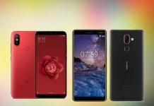 Xiaomi Mi 6X Nokia 7 Plus Android Oreo