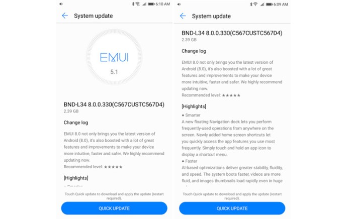 Android Oreo Google Huawei Mate SE