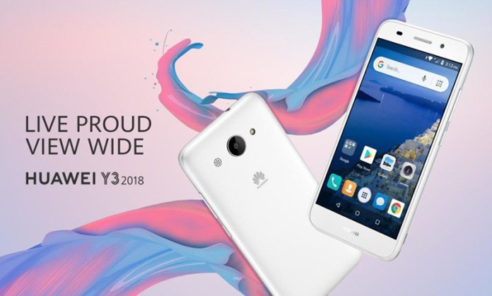 Huawei Y3 2018 Android Go capa Google