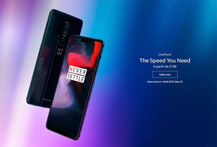 OnePlus 6 Android vendas preço