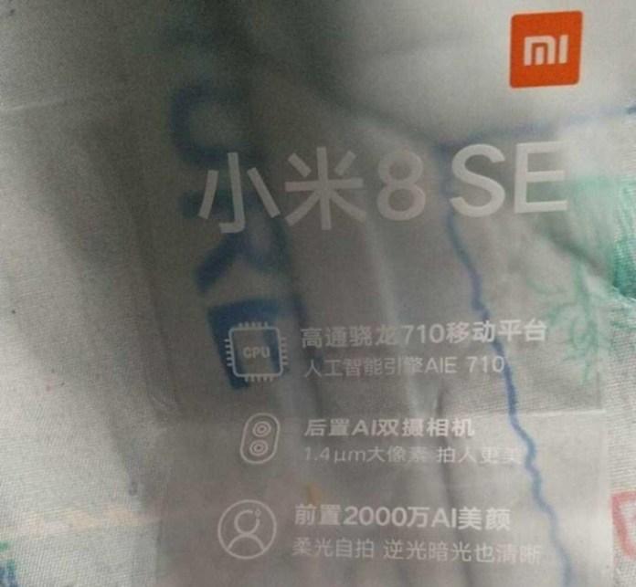 Xiaomi Mi 8 SE Snapdragon 710 Qualcomm Snapdragon 845 Android