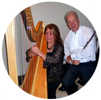 Margaret Atkinson, Harpist and Roger Simpson, Flutist