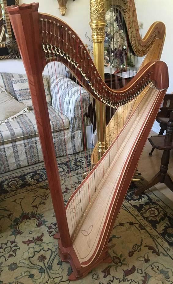 Bubinga Princessa Harp