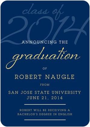 Graduation Time 30 Off Announcements
