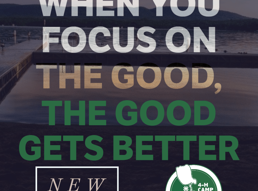 When you focus on the good, the good gets better - new activities for 2020