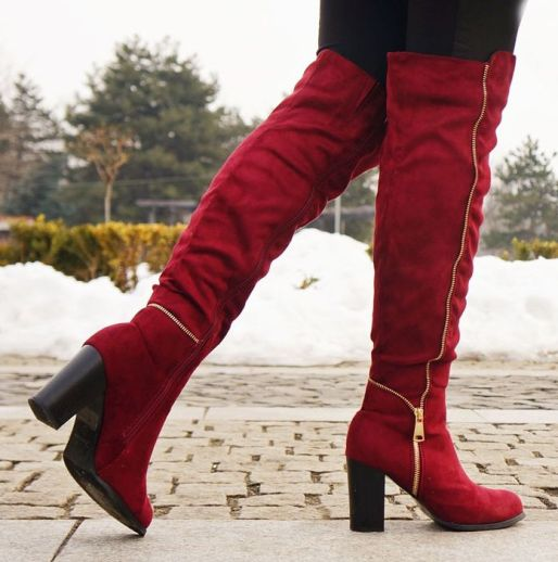 high-heels_-burgundy-boots_