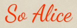 So Alice logo