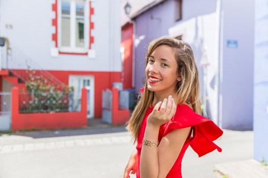 LaPenderie robe-rouge-volants