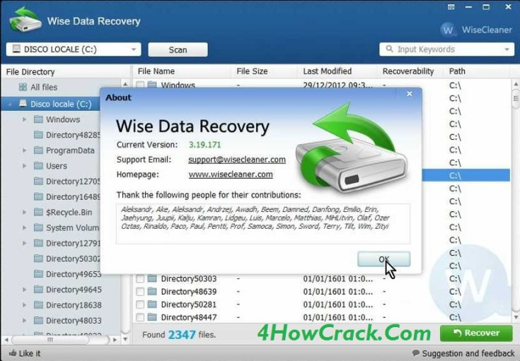Wise Data Recovery Serial Key Free Download
