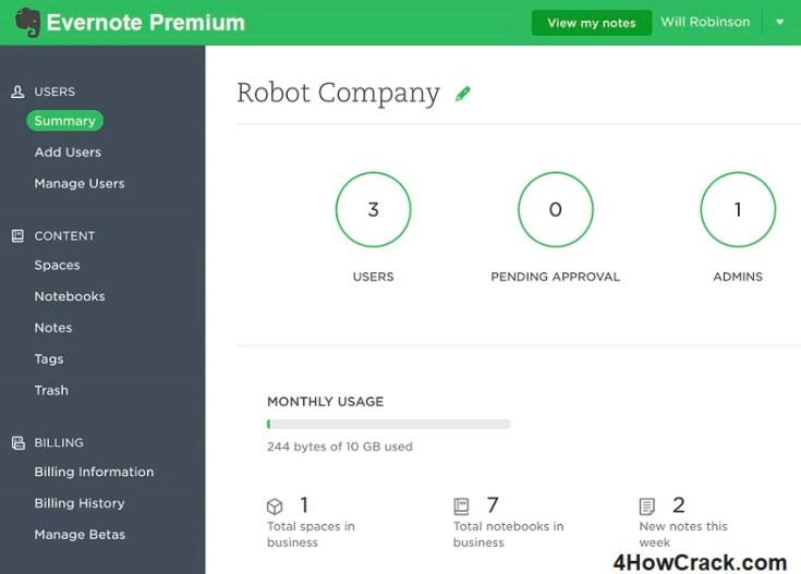 Evernote Premium Serial Key