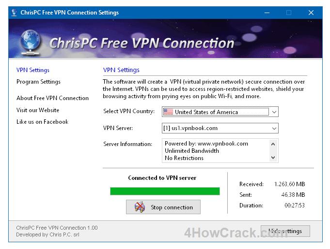 ChrisPC Free VPN Connection Full Version