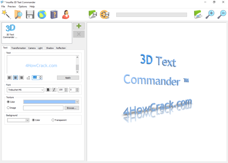 Insofta 3D Text Commander Download Serial Key