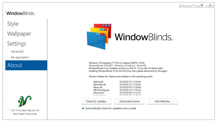 Stardock WindowBlinds Product Key