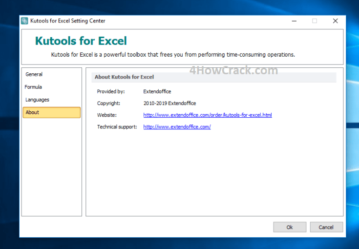 Kutools for Excel License Name and Code