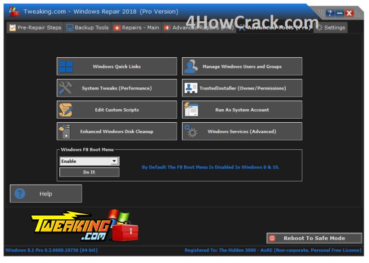 Windows Repair Pro Reg Key