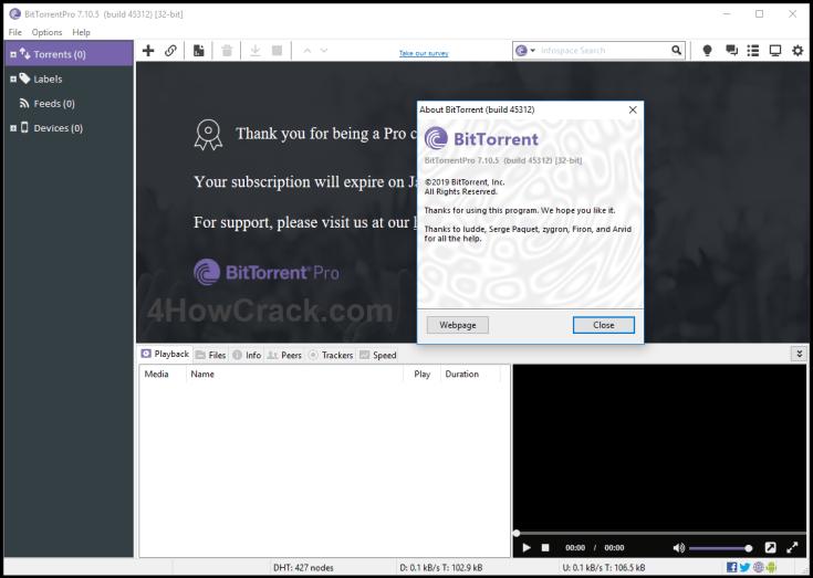 BitTorrent Pro Key Full Version