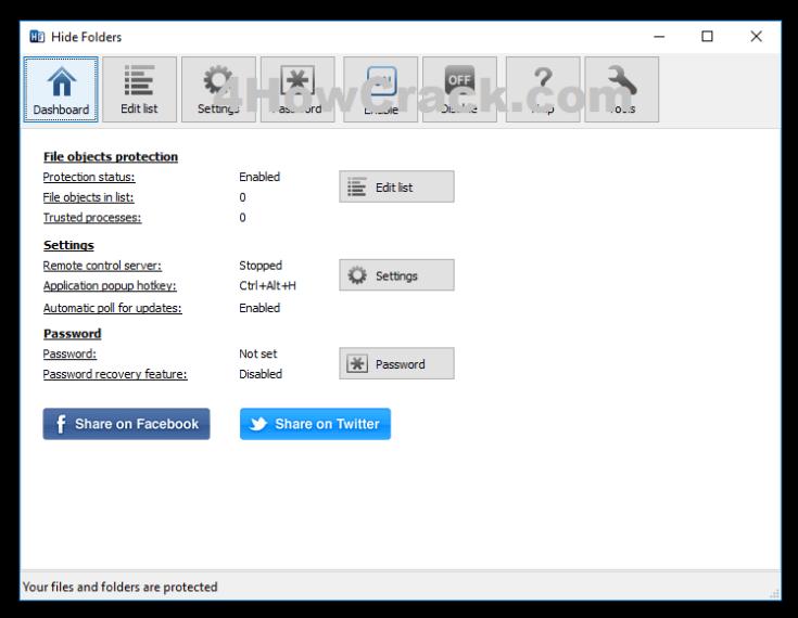 Hide Folders Registration Code