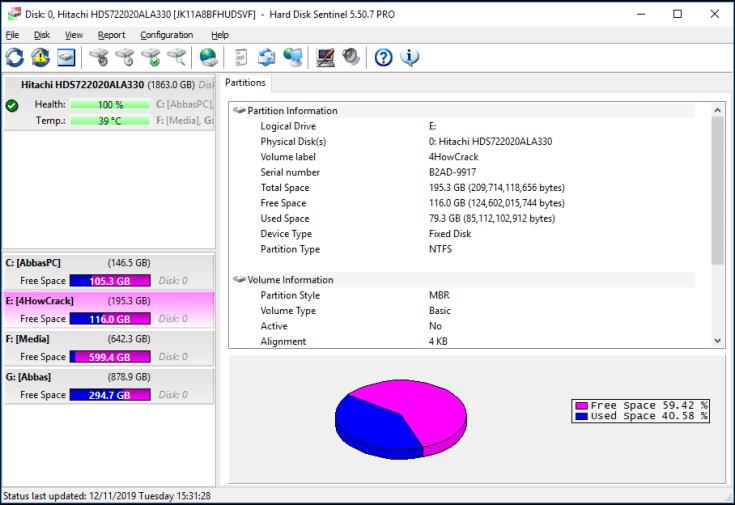 Hard Disk Sentinel Pro Registration Key Free Download