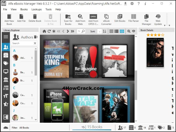 Alfa eBooks Manager Web License Key Download