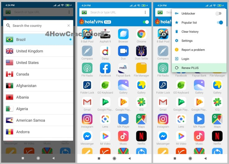 Hola VPN Proxy Plus Cracked APK for Android