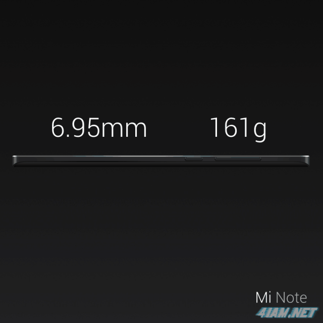 Xiaomi Mi Note Specifications (Weight and Size)