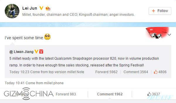 Liwan Jiang about Xiaomi Mi5