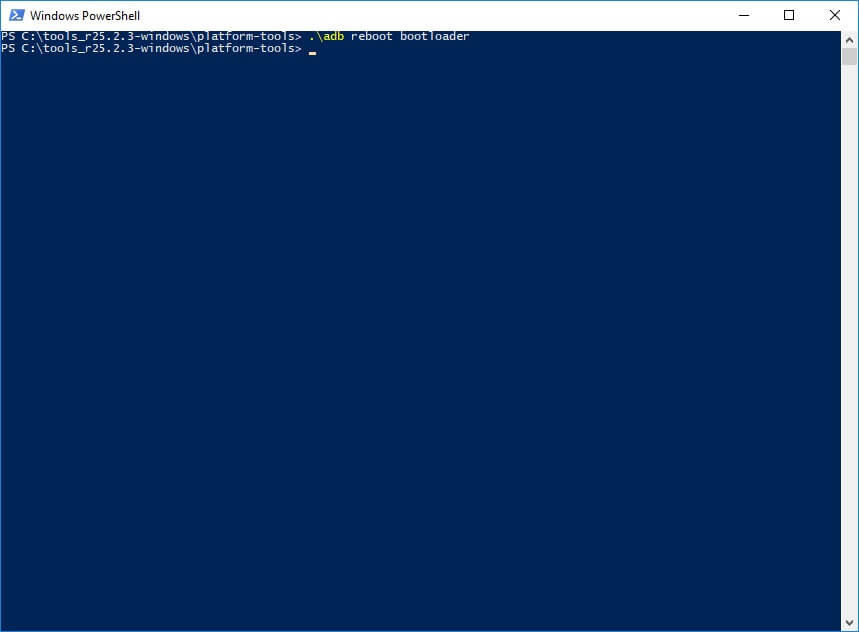 Adb reboot bootloader.