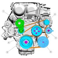 Замена приводного ремня на Ford Kuga 1,6 EcoBoost