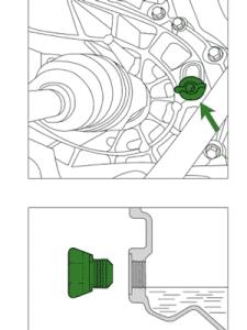 заливное отверстие коробки передач Renault Duster