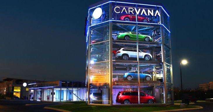 Вендинговый аппарат по продаже автомобилей компании Carvana