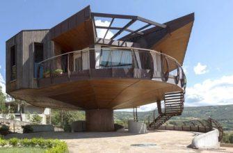 Вращающийся энергоэффективный дом Rotating House