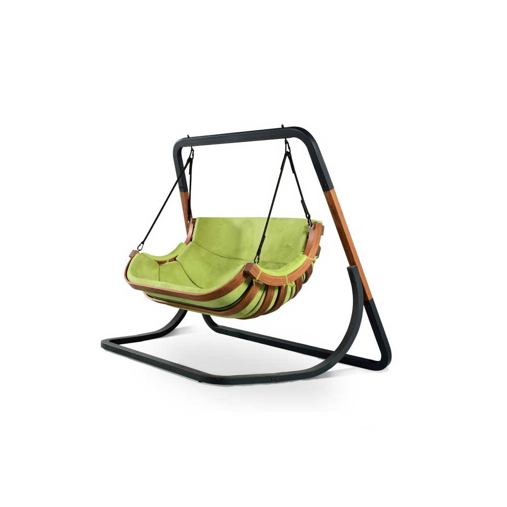 Swinging Chair Two Seated Swinging Chair With Stand Green