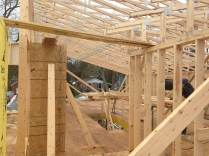 A peek inside the 2nd storey during framin