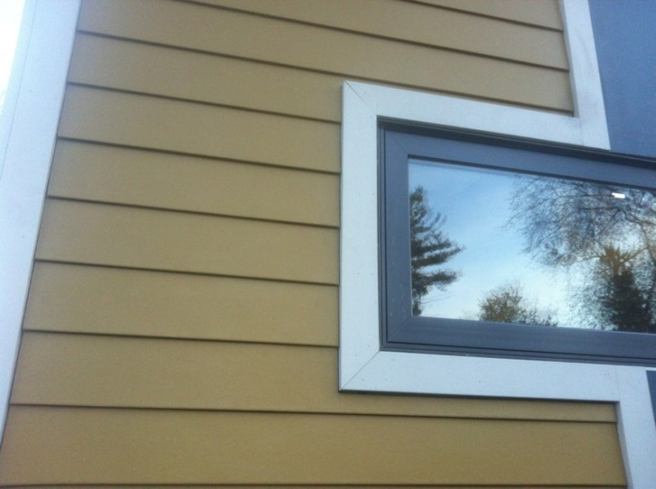 Close up of the HardiePlank siding
