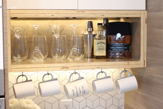 The Dreamhouse Project - Dream Kitchen Reveal - DIY open shelving storage boxes