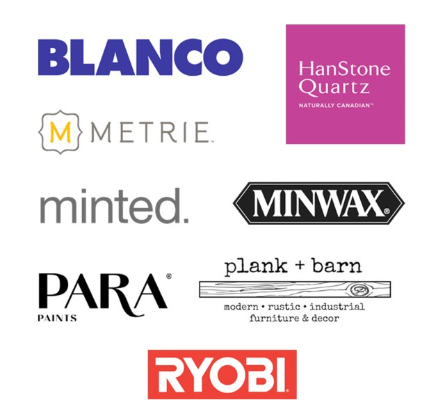 The Dreamhouse Project Fall 2017 ORC Sponsors: Blanco, HanStone Quartz, Metrie, Minted, Minwax, PARA Paints, Plank + Barn, RYOBI Tools