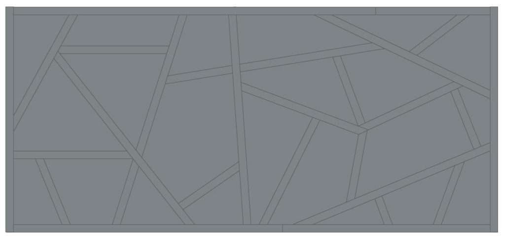 Initial geometric feature wall concept illustration