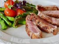 asparagus barbecue cuisine delicious
