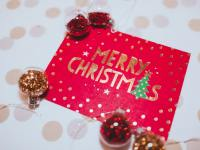 close up photo of christmas card
