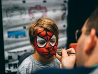 man painted boy s face