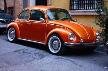 orange-volkswagen-beetle
